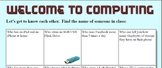 Starter Activity for New Computing Classes