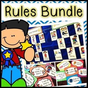 Classroom Management Kit- Rules, Clip Chart, Notes, Pocket Chart Activity