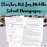 Starter Kit for Middle School Newspaper (editable version included!)