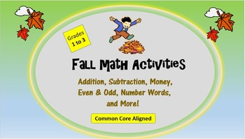 Fall Math Packet