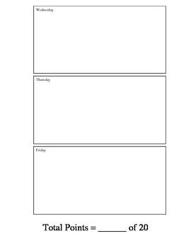 Starter/Warm-Up Worksheet for the Week