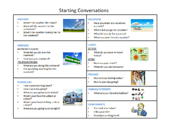 Starting Conversations for Older Students with Autism