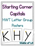 Starting Corner Capitals Posters- Handwriting Without Tears Style