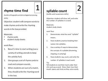 Build A Better Reader - Kindergarten - FREE MINI-ACTIVITY PACK