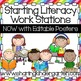 Starting Literacy Work Stations Set