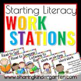 Starting Literacy Work Stations Set