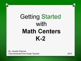 Starting Math Centers in K-2