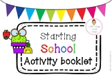 Starting School Activity Booklet- Cute Cactus