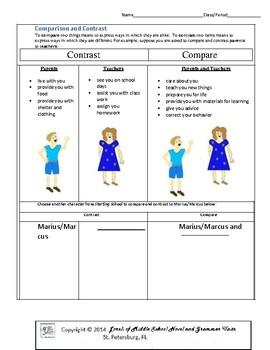 Starting School Literature and Grammar Unit