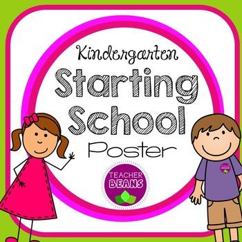 Starting School Poster