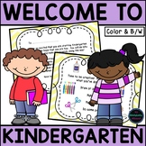 Kindergarten Orientation {Welcome Letter, Activities, Chec