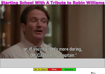 Starting School With A Tribute to Robin Williams - Bill Burton