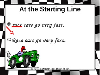 Starting Sentences with Capital Letters PowerPoint Presentation