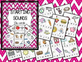Starting Sounds Clip Cards