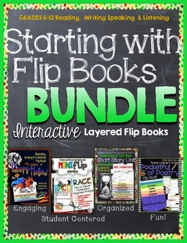 GUIDED READING, POETRY, WRITING STRATEGY FLIP BOOKS BUNDLE