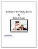 Starting Your Own Tutoring Business