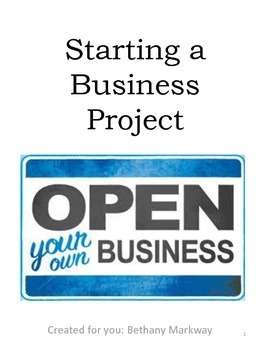 Starting a Business... Hands-On Student Project