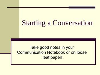 Starting a Conversation Powerpoint