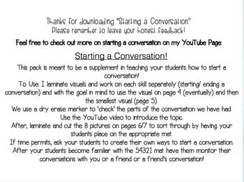 Starting a Conversation: Visuals