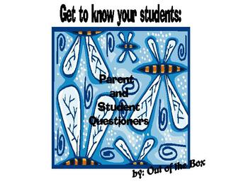 Starting the School Year: Parent and Student Questioners