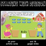 Starting with Division -  sharing equally, manipulatives,