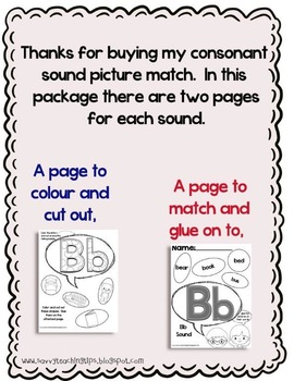 Starts With A Consonant - Initial Consonant cut and paste