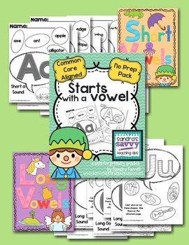 Starts With A Vowel - initial long vowel and short vowel cut and paste