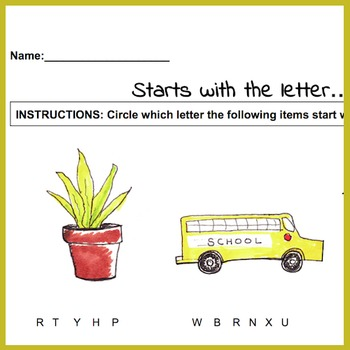 """Starts with the letter"" 
