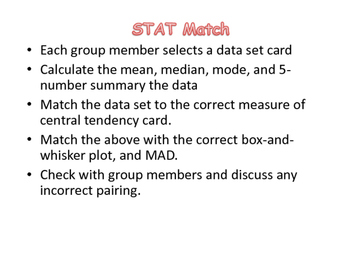 Stat Match