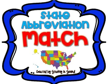 State Abbreviation Match {A Memory Game}