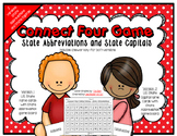 State Abbreviations and Capitals - Connect Four in a Row Game