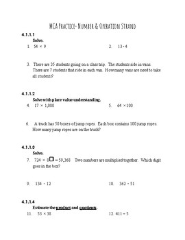 State Assessment Practice Packet