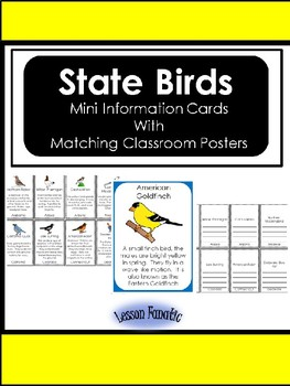 State Birds Information Cards with Posters