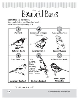 State Birds: U.S. Fun Facts and Puzzles for Grades 1–3