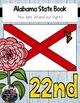 Alabama State Book {Map, Bird, Flag, Flower, Landmark, Ani