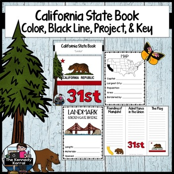 California State Book {Map, Bird, Flag, Flower, Landmark,