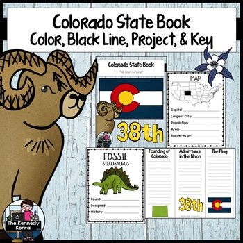 Colorado State Book {Map, Bird, Flag, Flower, Landmark, An