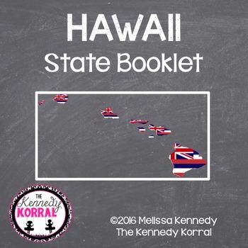 Hawaii State Book {Map, Bird, Flag, Flower, Landmark, Anim
