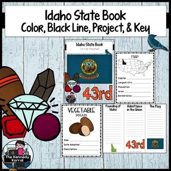 Idaho State Book {Map, Bird, Flag, Flower, Landmark, Anima