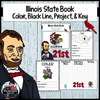Illinois State Book {Map, Bird, Flag, Flower, Landmark, An
