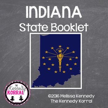 Indiana State Book {Map, Bird, Flag, Flower, Landmark, Animal, Tree & MORE}