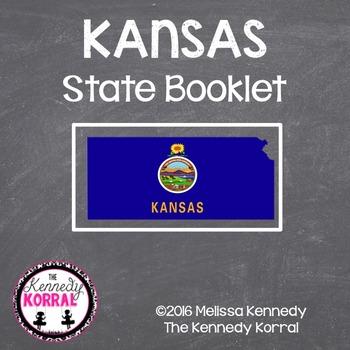 Kansas State Book {Map, Bird, Flag, Flower, Landmark, Anim