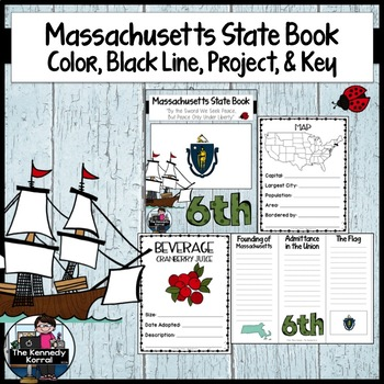 Massachusetts State Book {Map, Bird, Flag, Flower, Landmar