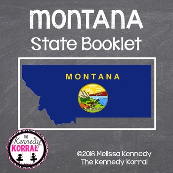 Montana State Book {Map, Bird, Flag, Flower, Landmark, Ani