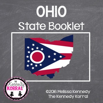 Ohio State Book {Map, Bird, Flag, Flower, Landmark, Animal