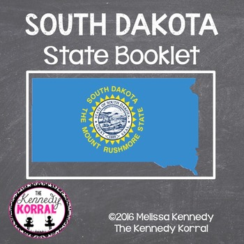 South Dakota State Book {Map, Bird, Flag, Flower, Landmark