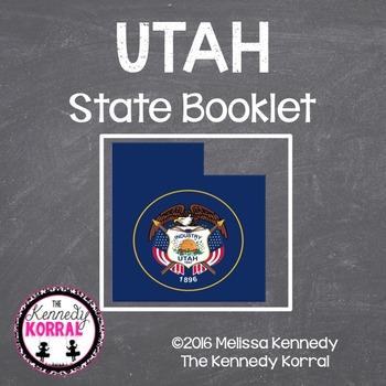 Utah State Book {Map, Bird, Flag, Flower, Landmark, Animal