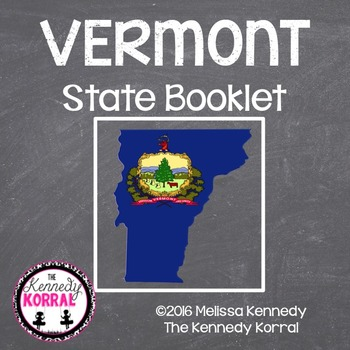 Vermont State Book {Map, Bird, Flag, Flower, Landmark, Ani