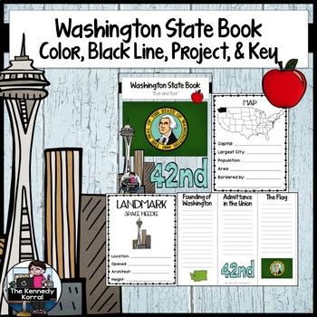 Washington State Book {Map, Bird, Flag, Flower, Landmark,