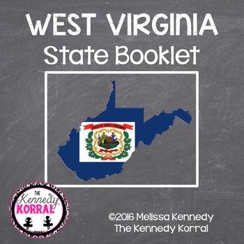 West Virginia State Book {Map, Bird, Flag, Flower, Landmar